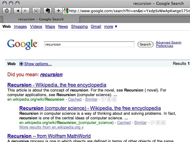 recursion - Google Search