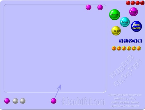 Bubble Shooter:クリア目前